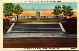 Maryland Annapolis Governor Ritchie Memorial On Governor Ritchie Boulevard