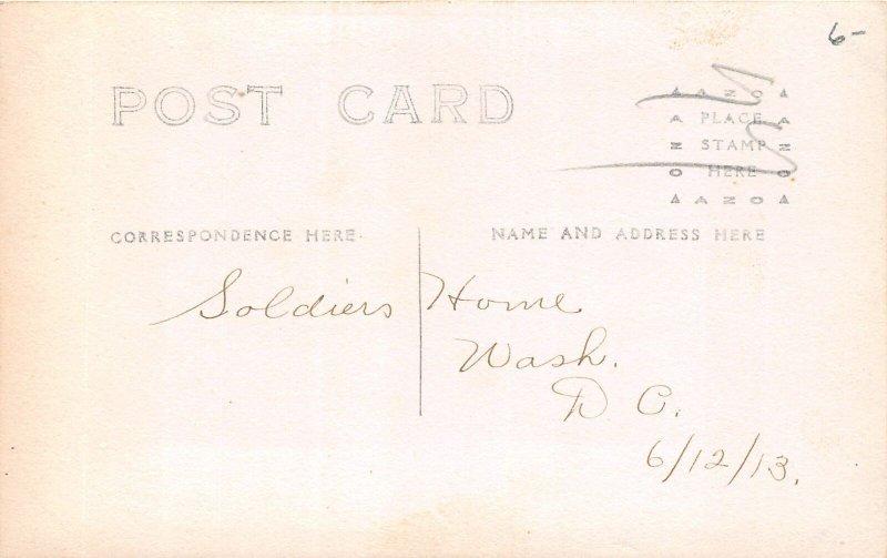 H78/ Washington D.C. RPPC Postcard c1910 Soldiers Home Cannons Men 174