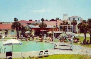 Swimming pool and patio KING AND PRINCE HOTEL, ST. SIMONS ISLAND, GA.