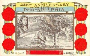 225th Anniversary Founding of Philadelphia William Penn 1908 Vintage Postcard
