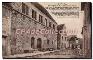 Old Postcard Provins Exterior View From La Grange Aux Dimes