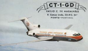 Portugal Campo Lindo Porto Amateur Rado Plane QSL 1960s Postcard