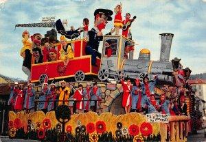 France Carnaval de Nice Le Petit Train des Vacances Postcard