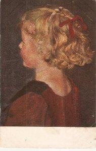 ·Gerhard Winter. Portrait of a girl Fine painting, vintage German postcard