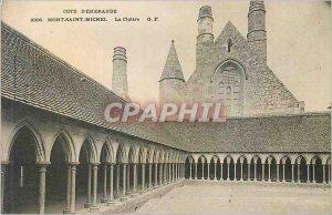 Old Postcard Cote emeraude 2306 Mont Saint Michel cloister