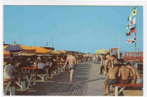 On The Boardwalk Stewart Beach Galveston Texas 1960s postcard