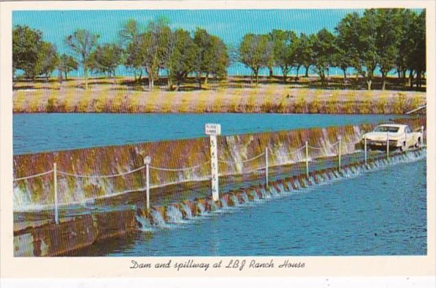 Texas San Antonio Dam and Spillway At L B J Ranch House