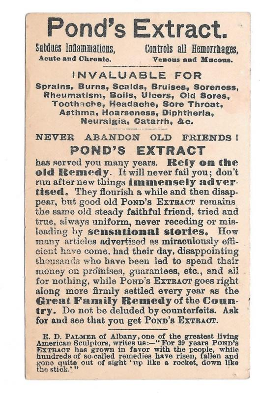 Ponds Extract Advertising Patent Medicine 2 Victorian Trade Cards Autumn Leaves