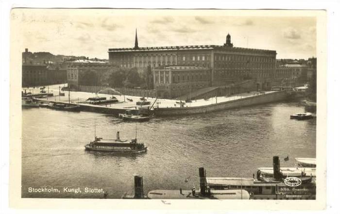 RP: Stockholm , Kungl, Slottet, SWEDEN, PU-1930