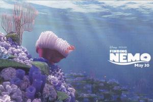 Clownfish Marlin Swimming w/ Nemo from Disney Pixar Movie Finding Nemo