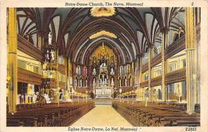 Notre-Dame Church, The Nave, Montreal