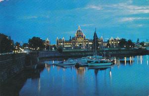 Illumination of Parliament Building, VICTORIA, British Columbia, Canada, 40-6...