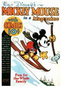 Disney Mickey Mouse Magazine Cover  January 1937