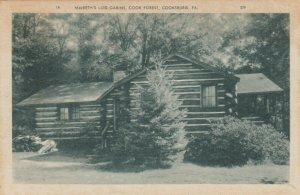 COOKSBURG, Pennsylvania, 1930s; MacBeth's Log Cabin, Cook Forest