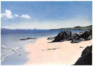 Scotland, UK Old Vintage Antique Post Card Iona Abbey from the Whtie Strand o...