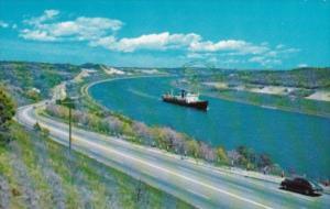 Massachusetts Cape Cod Canal Showing Sagamore Bridge