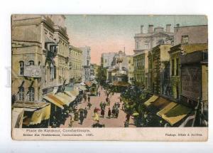 233013 TURKEY CONSTANTINOPLE Karakeui street Vintage postcard