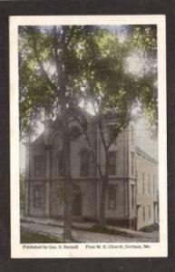 ME First Methodist M E Church GORHAM MAINE PC Postcard