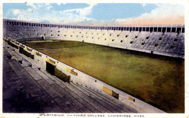 Cambridge, Massachusetts - The Stadium at Harvard College - in 1916