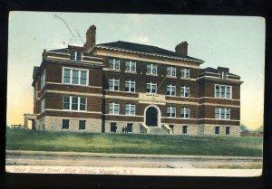 Westerly, Rhode Island/RI Postcard, West Broad Street High School, 1908!