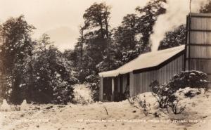 Waihohonu Hut Tongariro National Park New Zealand RPC Old Postcard