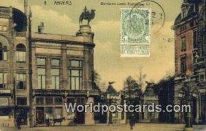 Entr»e du Jardin Zoologique Anvers, Belgium 1910 Stamp on front