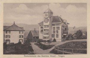 Trogen Ferienkolonie Des Bezirkes Hinwil Swiss Old Postcard