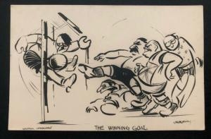 Mint Pro Allies Picture WW2 Postcard PPC Anti Germany The Winning Goal