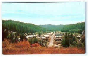 PIERCE, Idaho ID ~ Birdseye View CLEARWATER COUNTY ca 1950s-60s Postcard