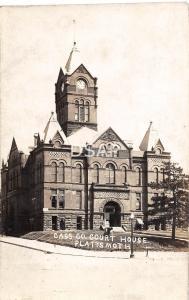 Nebraska Ne Real Photo RPPC Postcard c1920s PLATTSMOUTH Cass County Court House
