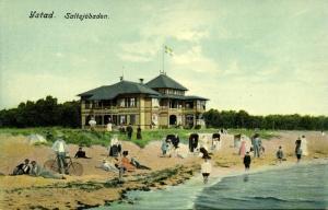 sweden, YSTAD, Saltsjöbaden, Beach Scene, Bike (1910s)