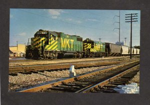 TX Missouri Kansas TEXAS Railroad Train Loco 310 FORT FT WORTH Postcard MKT RR