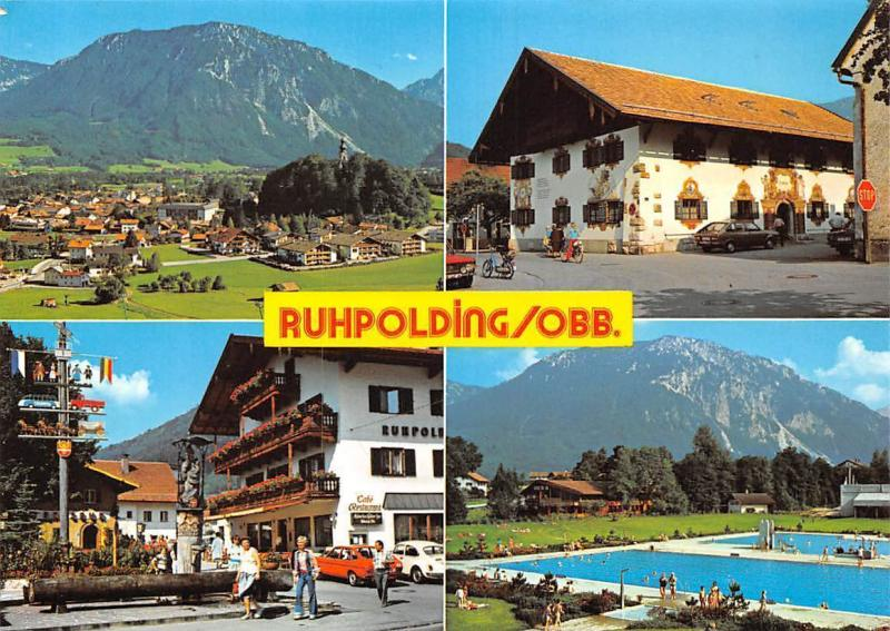 Ruhpolding Oberbayern Schwimmbad Gasthaus Pension Auto Cars General view