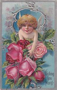 Angel amongst a bunch of roses , PU-1910