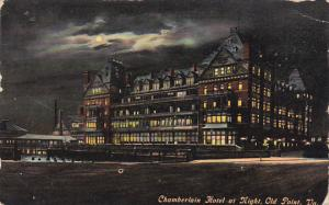 Chamberlain Hotel At Night Old Point Virginia 1912