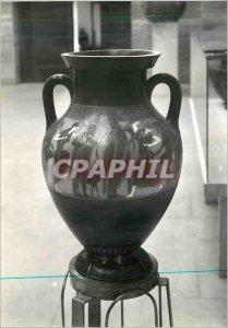 Postcard Modern amphora ancient Paestum was face noirre provenat oratory Hypogeo