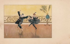 Art Deco ; Pierrot Clown Couple dancing #4, 1901-07 , M.M.VIENNE