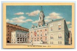 Postcard The City Hall at Portland ME Maine G33 * 1