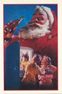 Coca Cola - Sant Claus - Children - Postcard and attached Coupons 1992