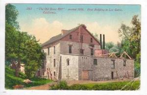 The Old Stone Mill  erected 1850, 1st Building in Los Gatos, California, PU-1926