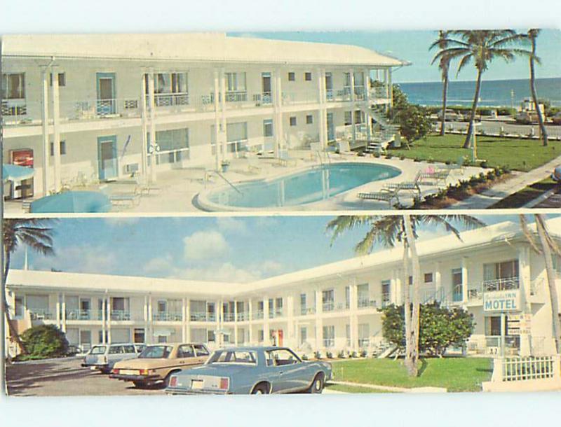1980 Old Cars Bermuda Inn Motel Delray Beach Florida Fl R0615