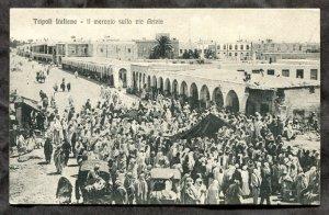 dc854 - TRIPOLI Libya c1905-10 Market. Italy Colony Postcard