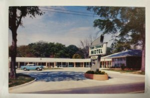 Vintage Postcard Town Terrace Motel 1957 Moultrie Georgia postmark Venice FL
