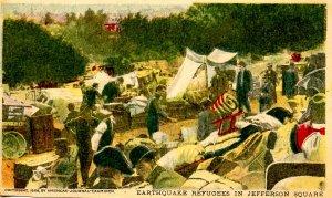 CA - San Francisco. 1906 Earthquake & Fire. Jefferson Square, Refugees