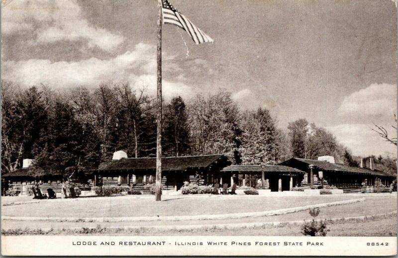 White Pines Forest State Park Illinois~Lodge & Restaurant~1930s CR Childs 88542