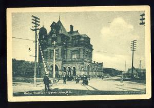 Saint John, New Brunswick/N.B., Canada Postcard, Union Station, 1929!