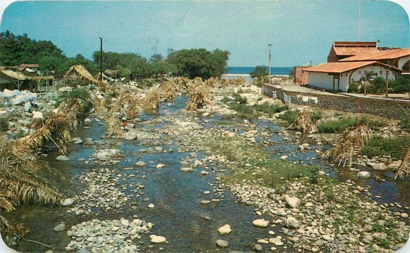 River of the Dead Town Laundry Puerto Vallarta Jalisco Mexico pm 1968 Postcard