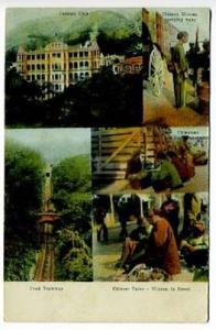 Hongkong China German Club Peak Tramway Chinese Tailor Woman Baby Postcard