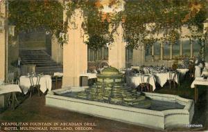 1912 PORTLAND OREGON Neapolitan Fountain Hotel Multnomah Scheiner postcard 5169