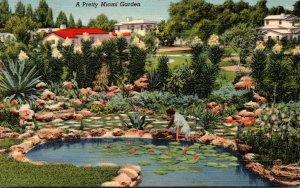 Florida Miami A Pretty Miami Garden 1954 Curteich